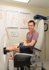 Patrick Chan participating in research